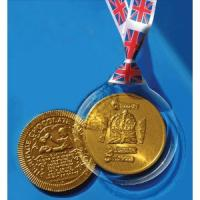 2012 Diamond Jubilee 80mm Chocolate Coin