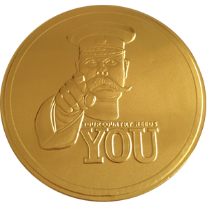 WWI Propaganda Chocolate Coin